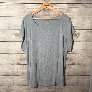 Anthropologie Pleione Gray T-shirt Top